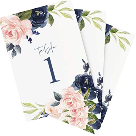 Blush & Navy Floral