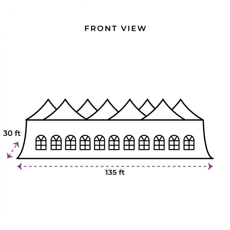 30x135 Genesis Tent