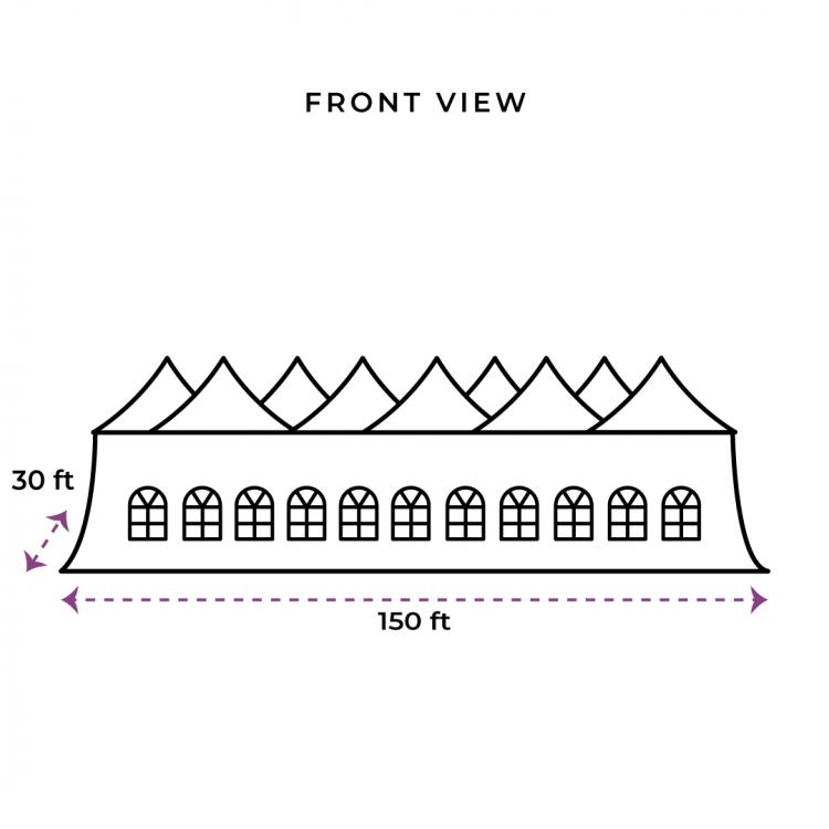 30x150 Genesis Tent