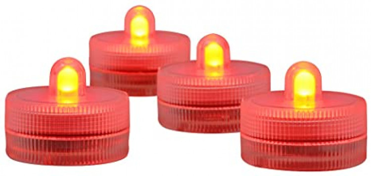 LED Submersible Tea Light, Red