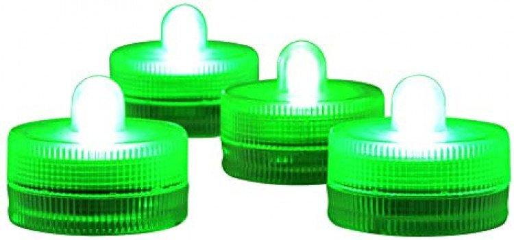LED Submersible Tea Light, Green