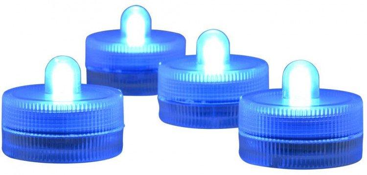 LED Submersible Tea Light, Blue