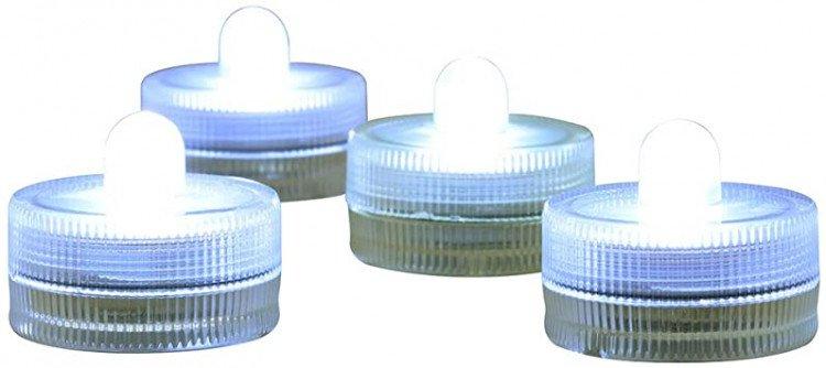 LED Submersible Tea Light, White