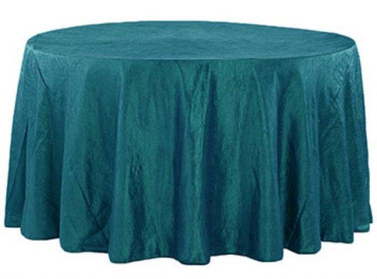 Blue, Turquoise Taffeta Floor Length Round