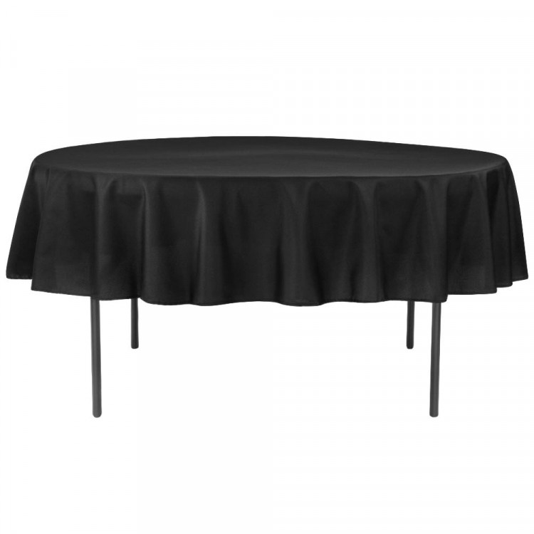Black, Polyester 90 x 90 Round