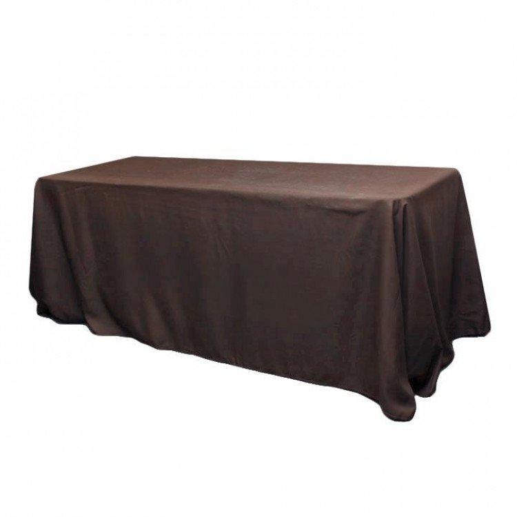 Brown, Taffeta Floor Length Rectangle