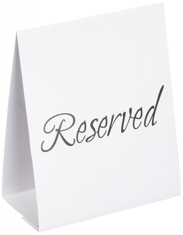 Black Self Standing Reserved Sign