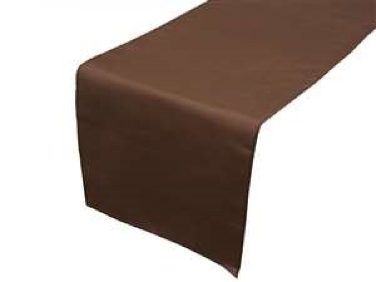 Brown, Chocolate Polyester Runner
