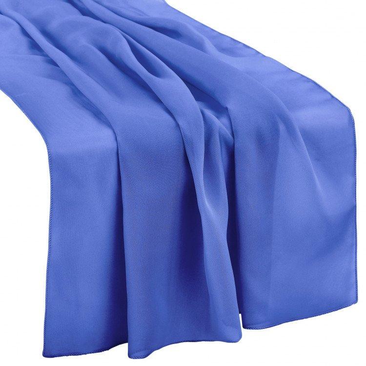 Blue, Royal Chiffon Runner
