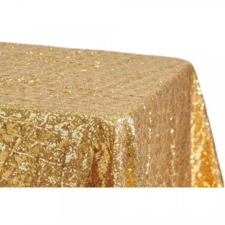 Gold, Sequin Floor Length Rectangle