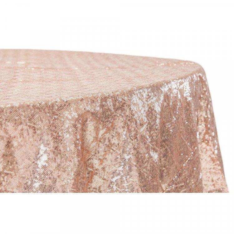Pink, Blush Sequin Floor Length Round