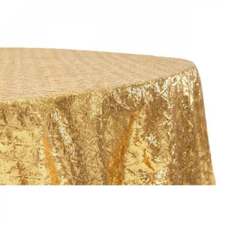 Gold, Sequin Floor Length Round