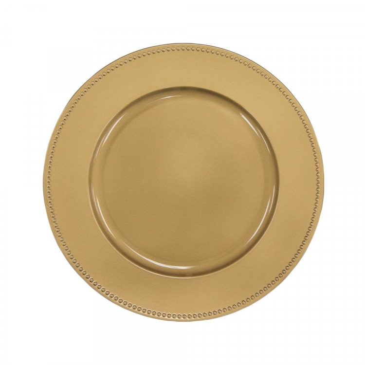 Gold Beaded Charger Plate (Classic)