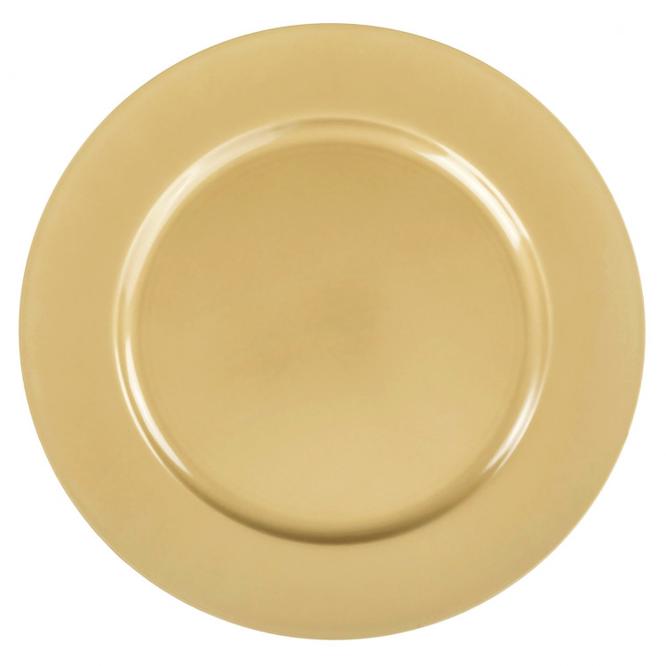 Gold Plain Charger Plate (Classic)