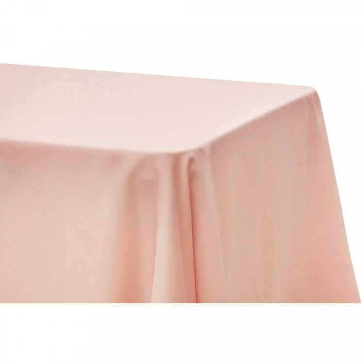 Pink, Blush Satin Floor Length Rectangle