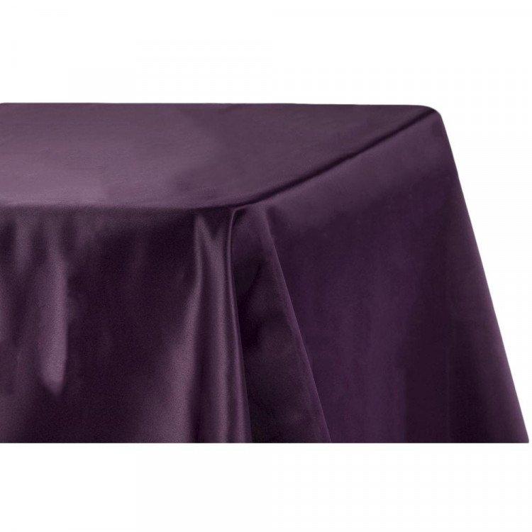 Purple, Plum Satin Floor Length Rectangle