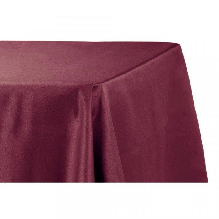 Red, Merlot Satin Floor Length Rectangle