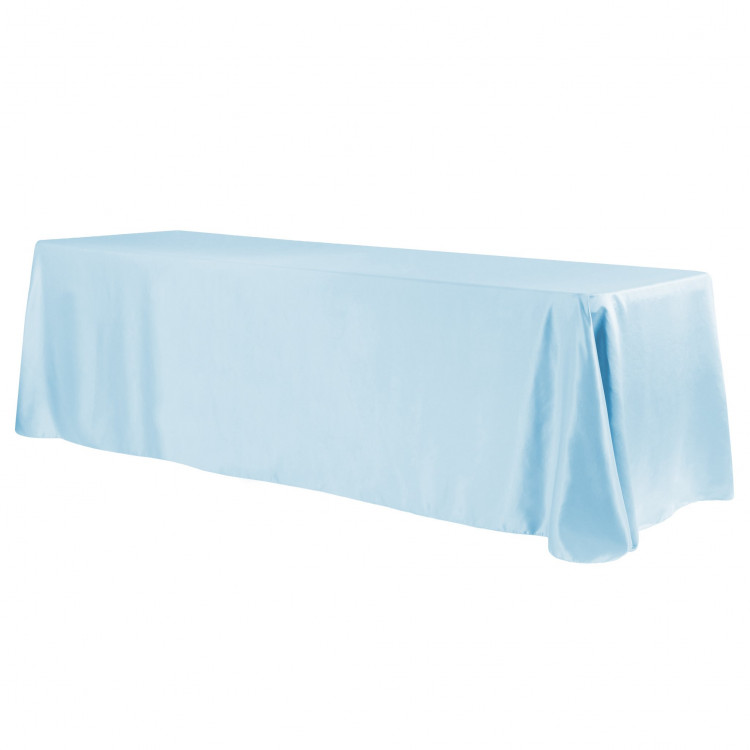 Blue, Baby Satin Floor Length Rectangle