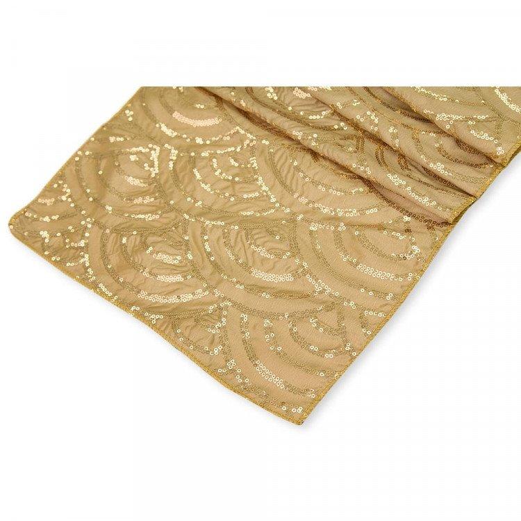 Gold, Mermaid Sequin Runner