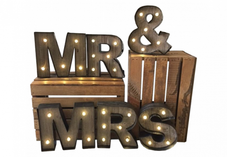 MR & MRS Marquee Sign