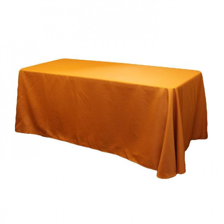 Orange, Burnt Taffeta Floor Length Rectangle