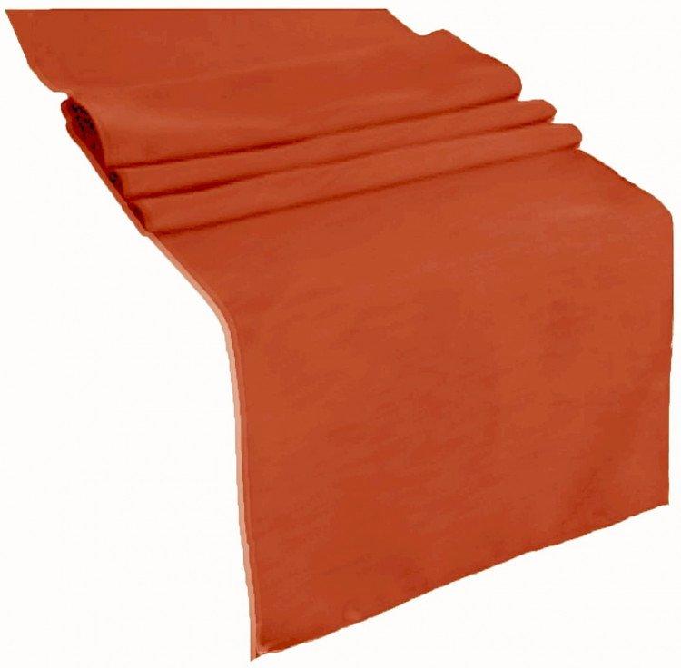 Orange, Burnt Polyester Runner