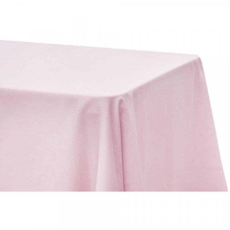 Pink, Baby Satin Floor Length Rectangle