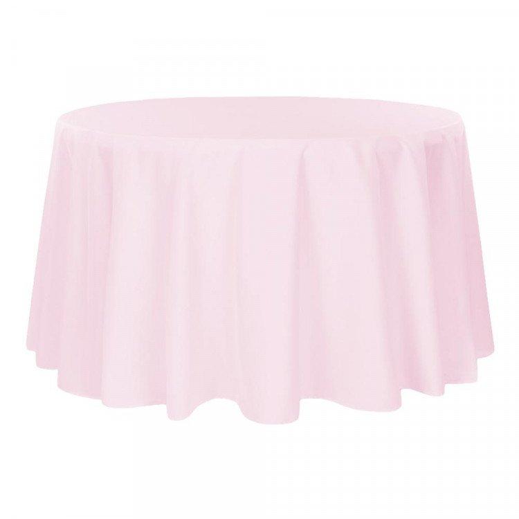 Pink, Baby Satin Floor Length Round