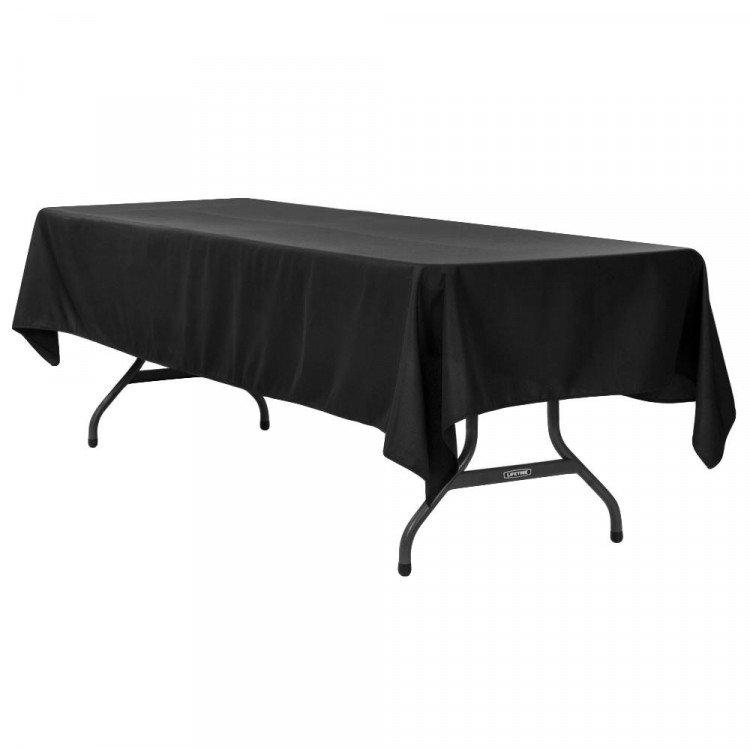 Black, Polyester 60 x 120 Rectangle