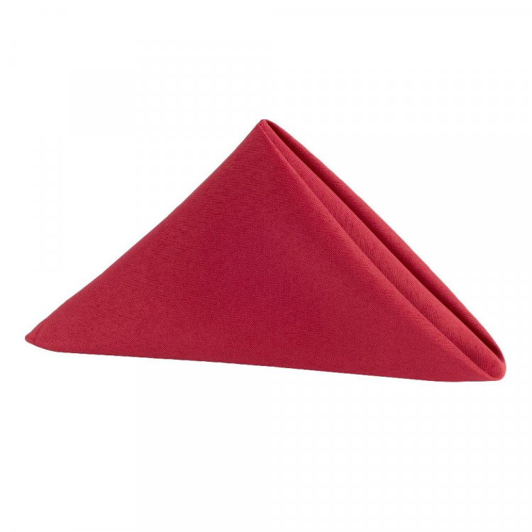 Red, Maroon Polyester Napkin