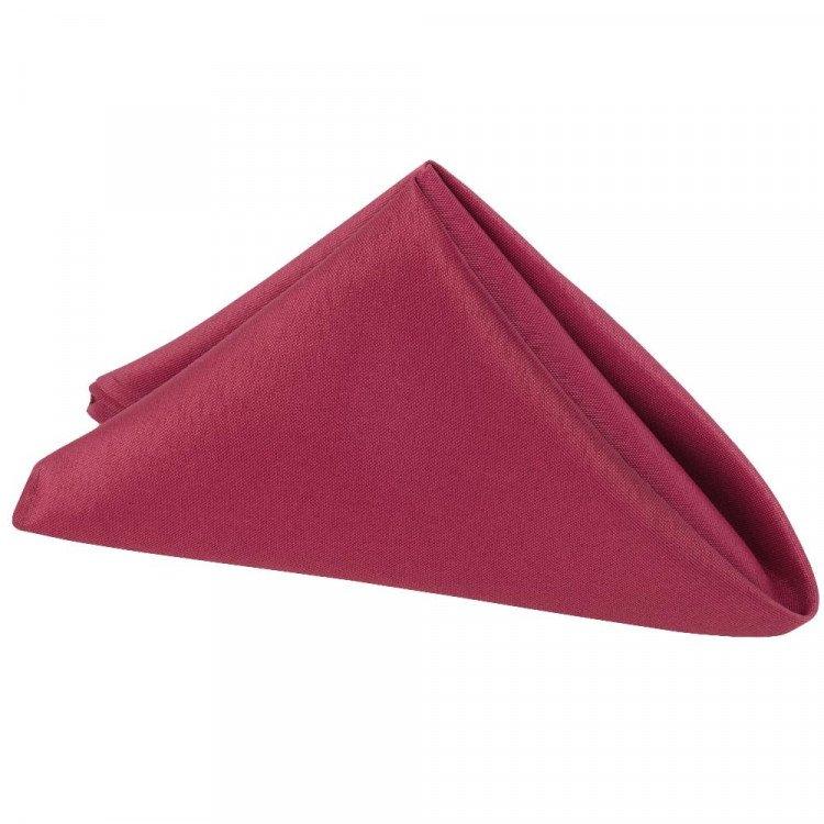 Red, Burgundy Polyester Napkin