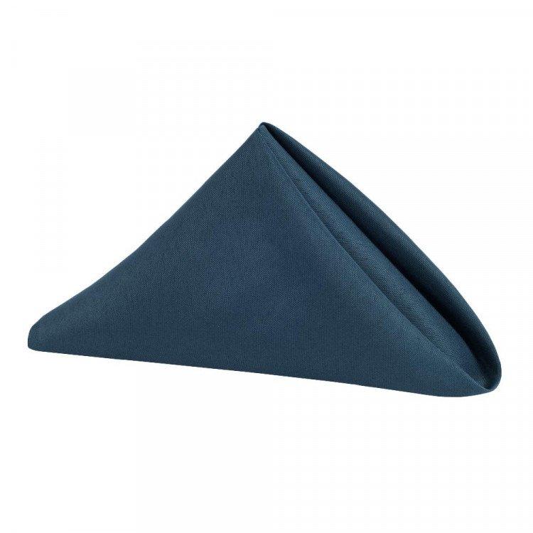 Blue, Navy Polyester Napkin