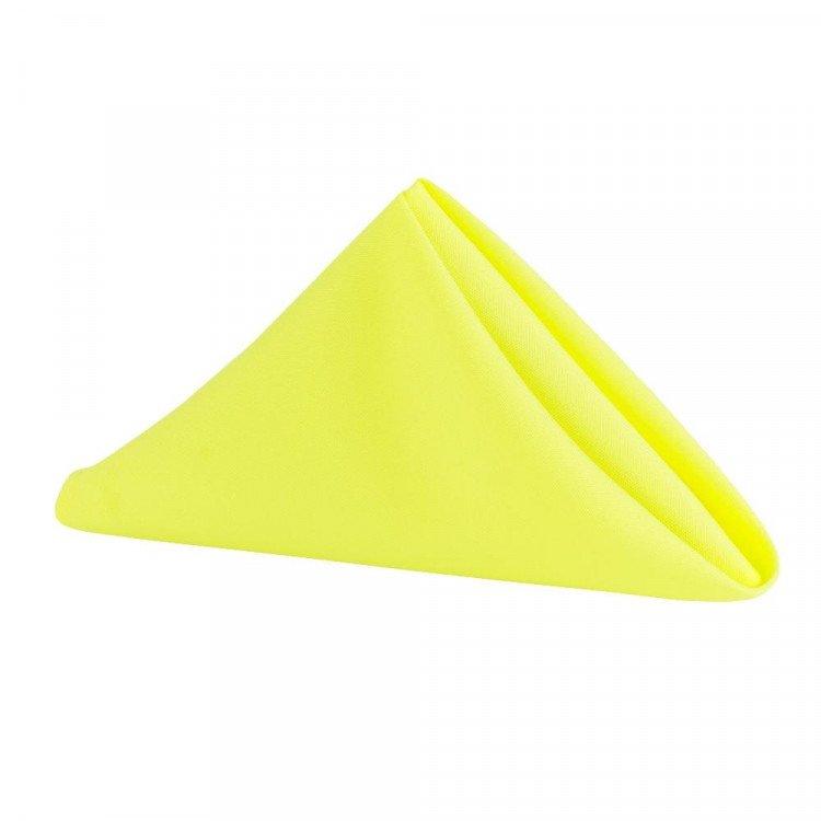 Yellow, Bright Satin Napkin