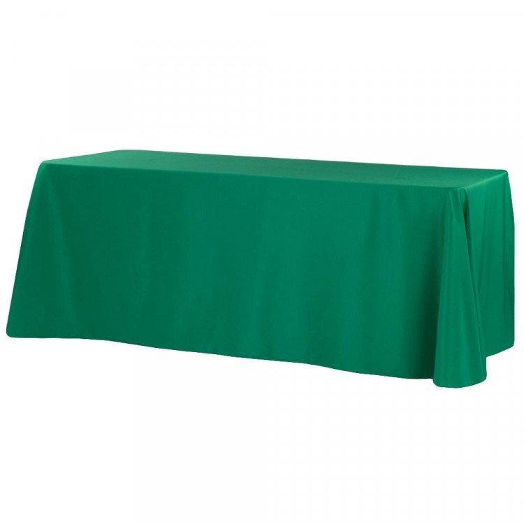 Green, Forest Polyester Floor Length Rectangle