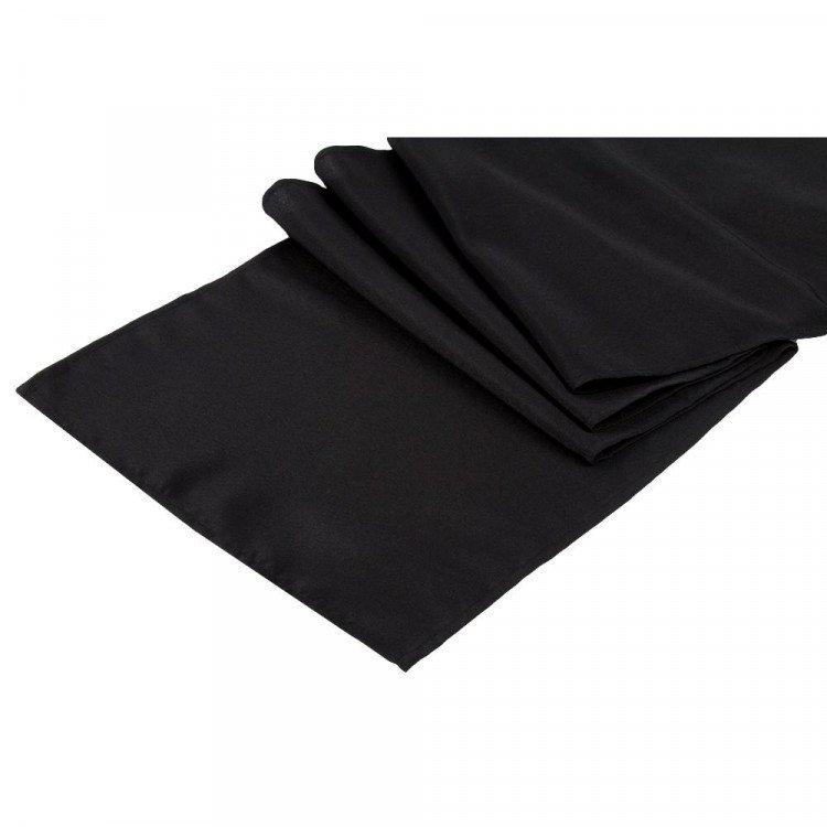 Black, Polyester Runner