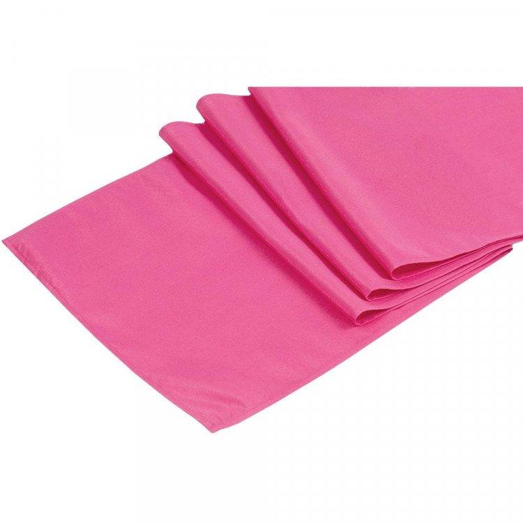 Pink, Fuchsia Polyester Runner