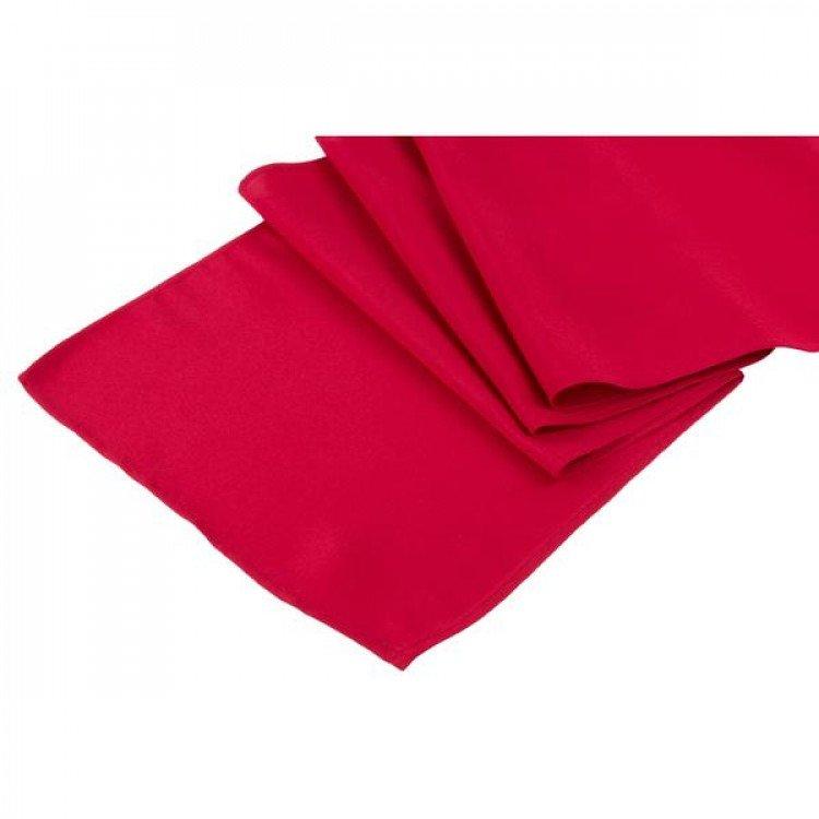Red, Maroon Polyester Runner