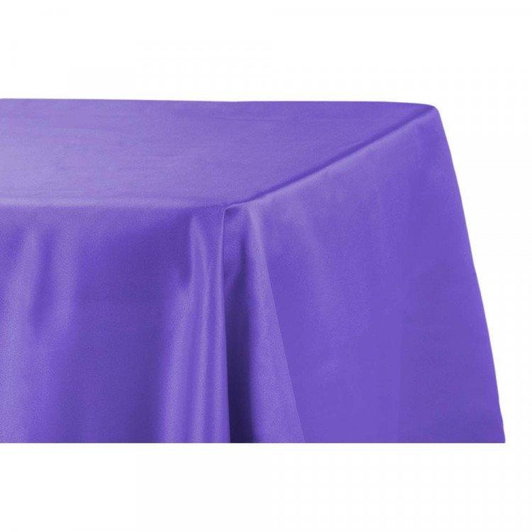 Purple, Royal Satin Floor Length Rectangle