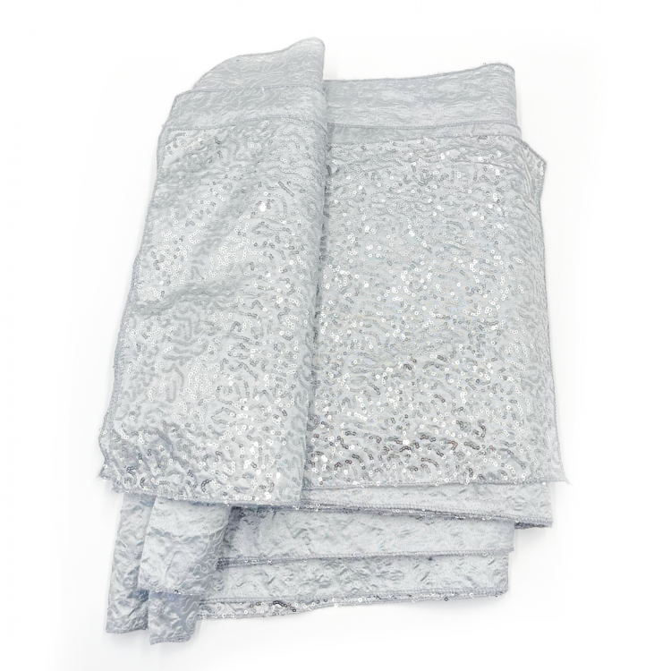 Silver, Squiggle Sequin Runner