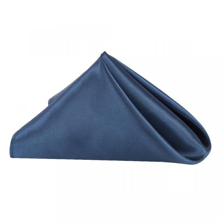 Blue, Navy Satin Napkin
