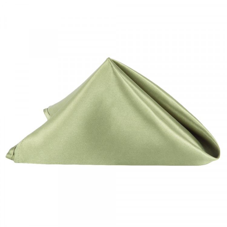 Green, Moss Satin Napkin