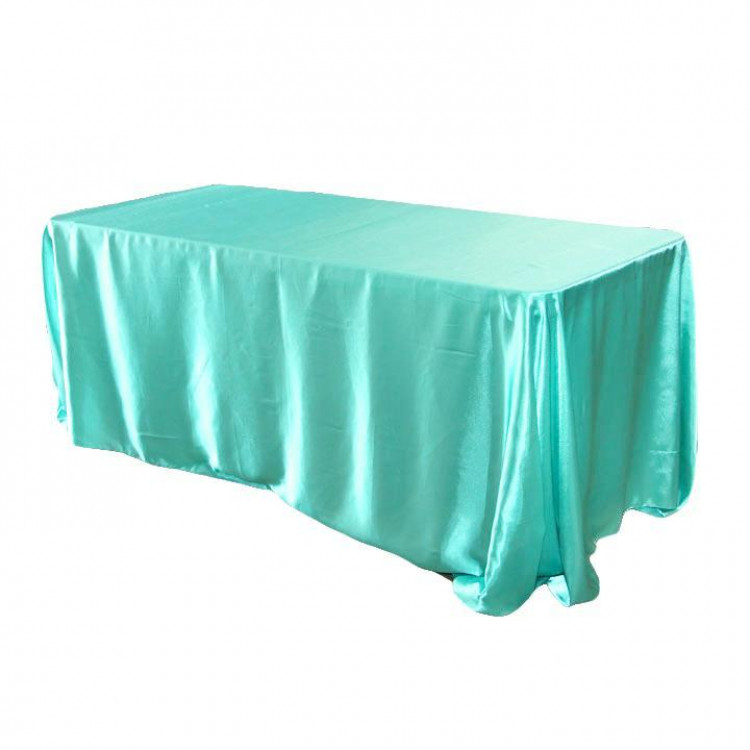 Blue, Tiffany Taffeta Floor Length Rectangle
