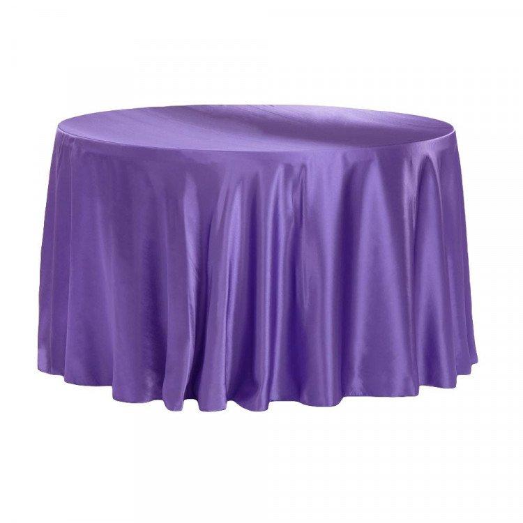 Purple, Royal Satin Floor Length Round