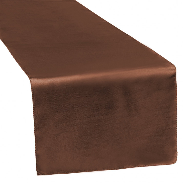 Brown, Chocolate Satin Runner