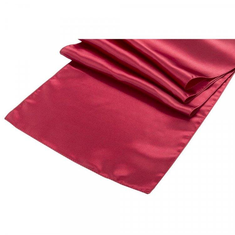 Red, Merlot Satin Runner