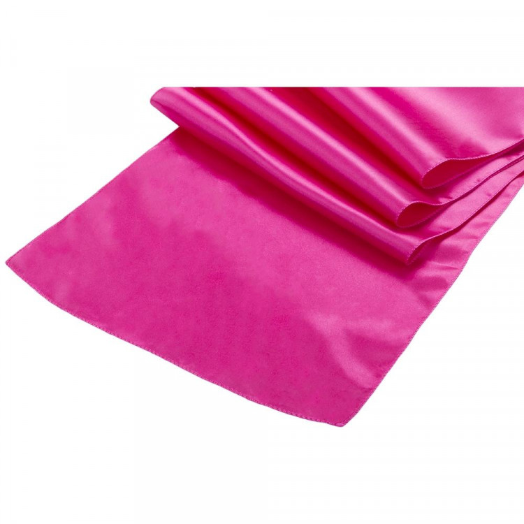 Pink, Fuchsia Satin Runner