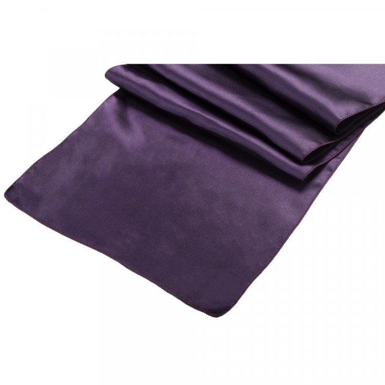 Purple, Plum Satin Runner