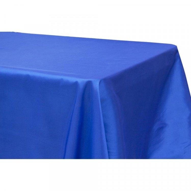 Blue, Royal Taffeta Floor Length Rectangle