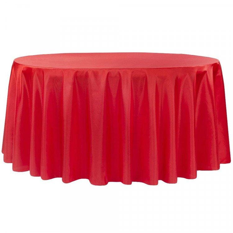 Red, Crimson Taffeta Floor Length Round