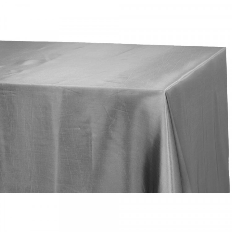 Silver, Taffeta Floor Length Rectangle